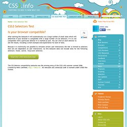 Test Your Browser For CSS3 Compatibility
