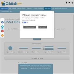 CSS3 Box Shadow Generator - CSS3gen