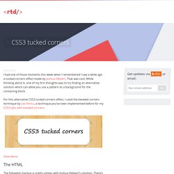 CSS3 tucked corners effect