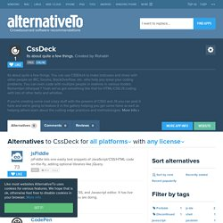 CssDeck Alternatives
