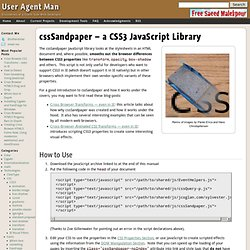 cssSandpaper – a CSS3 JavaScript Library
