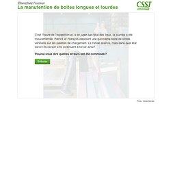 Jeu interactif - Cherchez l'erreur - CSST