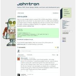 CSV-to-JSON