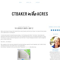 ctbaker in the acres: 14 Lovely Days: Day 2