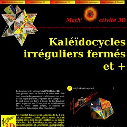 Math'@ctivité 3D : kaléïdocycle d'ordre 6