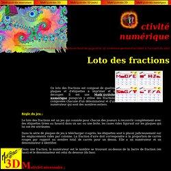 Jeu : Le loto des fractions