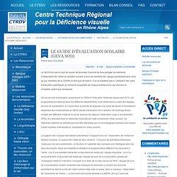 CTRDV - PEP69 - Le guide d'évaluation Scolaire (GEVA Sco)