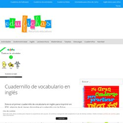 Cuadernillo de vocabulario en ingles para imprimir en PDF