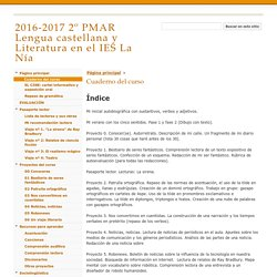 Cuaderno del curso - 2016-2017 2º PMAR Lengua castellana y Literatura en el IES La Nía