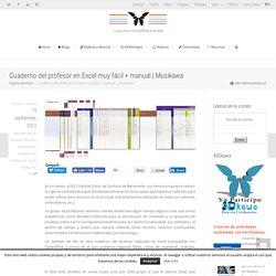 Cuaderno del profesor en Excel muy fácil + manual