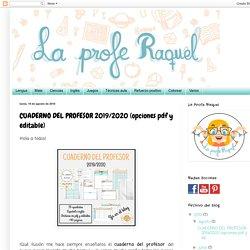 CUADERNO DEL PROFESOR 2019/2020 (opciones pdf y editable)