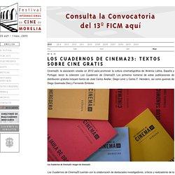Los Cuadernos de Cinema23: Textos sobre cine gratis