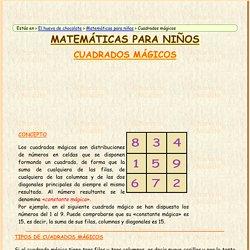 Cuadrados mágicos. Matemáticas para niños. El huevo de chocolate.