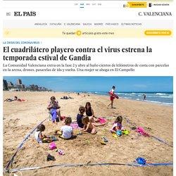 Fase 2 Valencia: El cuadrilátero playero contra el virus estrena la temporada estival de Gandia
