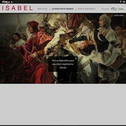 Cuadro de la Rendición de Granada en la serie Isabel