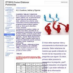4.2. Cuadros, tablas y figuras - ITT2012.Curso Elaborar Ponencias