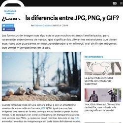 ¿Cuál es la diferencia entre JPEG, PNG, y GIF?