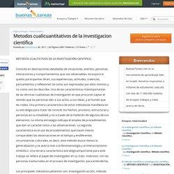 Metodos cualicuantitativos de la investigacion cientifica - Ensayos de Colegas - Jimmyhouse