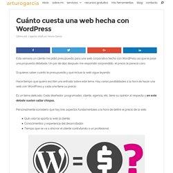 Cuánto cuesta una web hecha con Wordpress