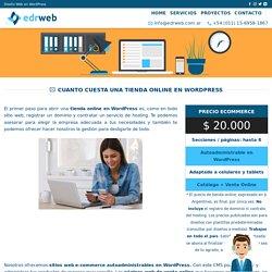 Cuanto cuesta una tienda online en WordPress Argentina