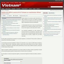 Subida del déficit comercial de Vietnam en cuatrimestre último