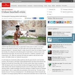 Cuban baseball crisis