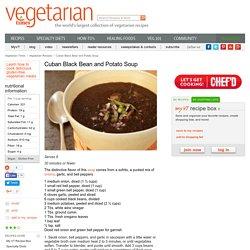 Cuban Black Bean and Potato Soup Recipe