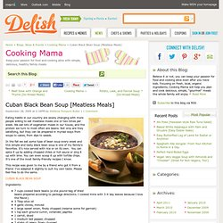 Cuban Black Bean Soup Recipe - Vegetarian Black Bean Soup