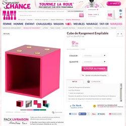 Cube de Rangement Empilable, L.27 x L.26 x P.27 cm