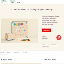 Cubetto - Hands on coding for ages 3 and up by Primo Toys