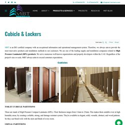 MBT - HPL Toilet Cubicles, Lockers, Benches and Urinal Partition