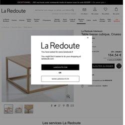 Table basse cubique, Crueso La Redoute Interieurs