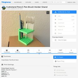 Cubistand Pencil Pen Brush Holder Stand by sdmc