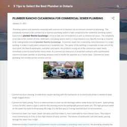 PLUMBER RANCHO CUCAMONGA FOR COMMERCIAL SEWER PLUMBING