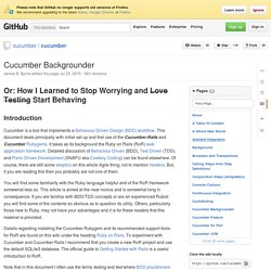 Cucumber Backgrounder · cucumber/cucumber Wiki