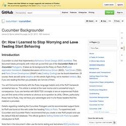 Cucumber Backgrounder · cucumber/cucumber Wiki