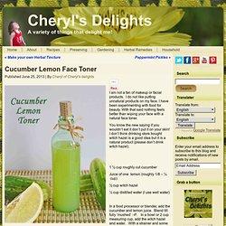 Cucumber Lemon Face Toner