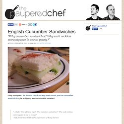 English Cucumber Sandwiches