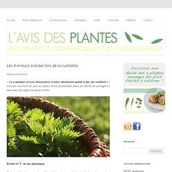 La cueillette de plantes, quelques erreurs à éviter.