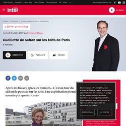 FRANCE INTER 09/10/19 L ESPRIT D INITIATIVE - Cueillette de safran sur les toits de Paris