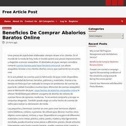 Beneficios De Comprar Abalorios Baratos Online