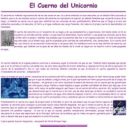 Cuerno del unicornio
