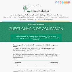 Cuestionario de compasión - Mindfulness Web