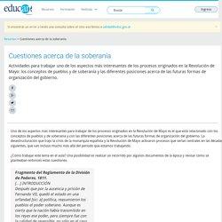 Cuestiones acerca de la soberanía - Educ.ar