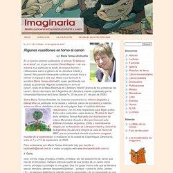 Algunas cuestiones en torno al canon, por María Teresa Andruetto - Imaginaria No. 217 - 10 de octubre de 2007