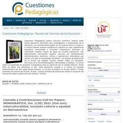 Cuestiones Pedagógicas. Revista de Ciencias de la Educación