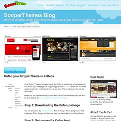 Cufon your Drupal Theme in 4 Steps
