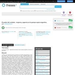 EHESS PARIS 11/10/19 Thèse en ligne : L'agentivité des femmes dans la pampa argentine au temps du soja OGM