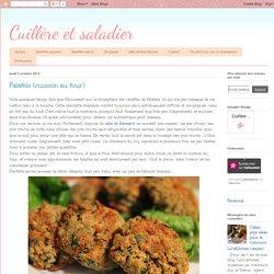 Cuillère et saladier: Falafels (cuisson au four)