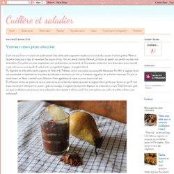 Verrines crues poire-chocolat